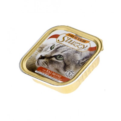 MISTER STUZZY CAT консервы для кошек 100г, с Лососем, алюпак (уп-32шт)